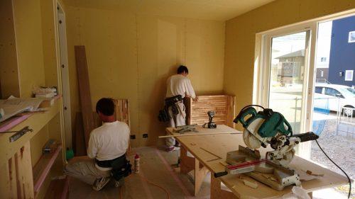 佐野の家Ⅱ|大工造作が進んでいます