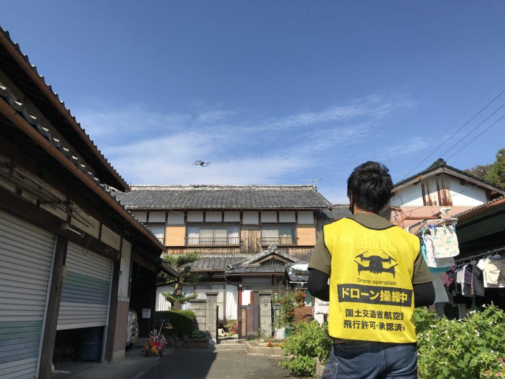 近江八幡市でドローン屋根点検を実施