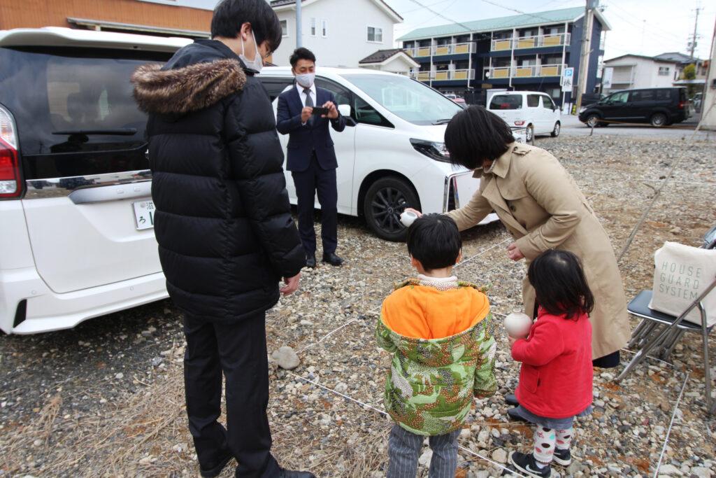 平田の家2|地鎮祭と基礎工事
