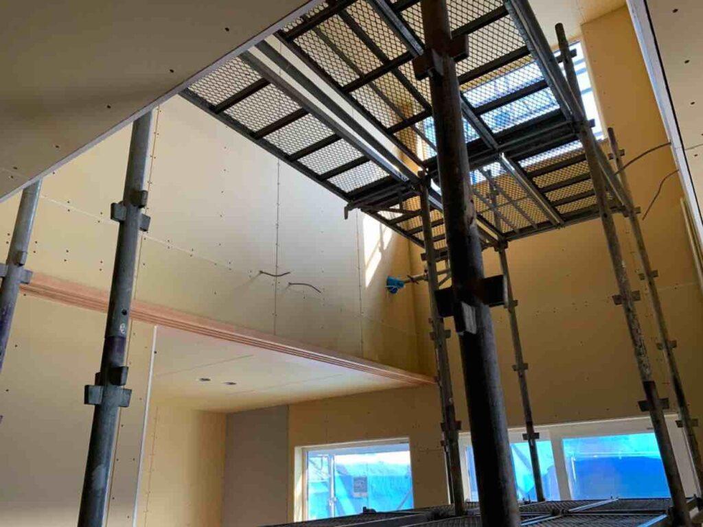 平田の家2|外壁の施工が始まりました