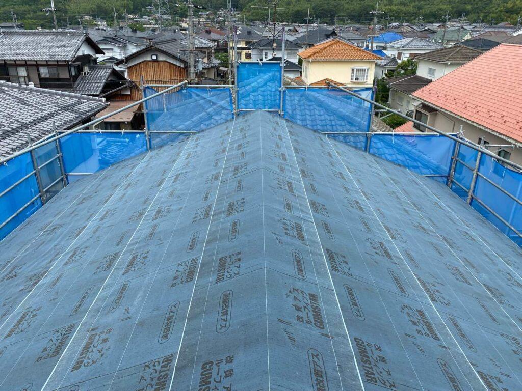 八条の家|外壁エコサームの施工
