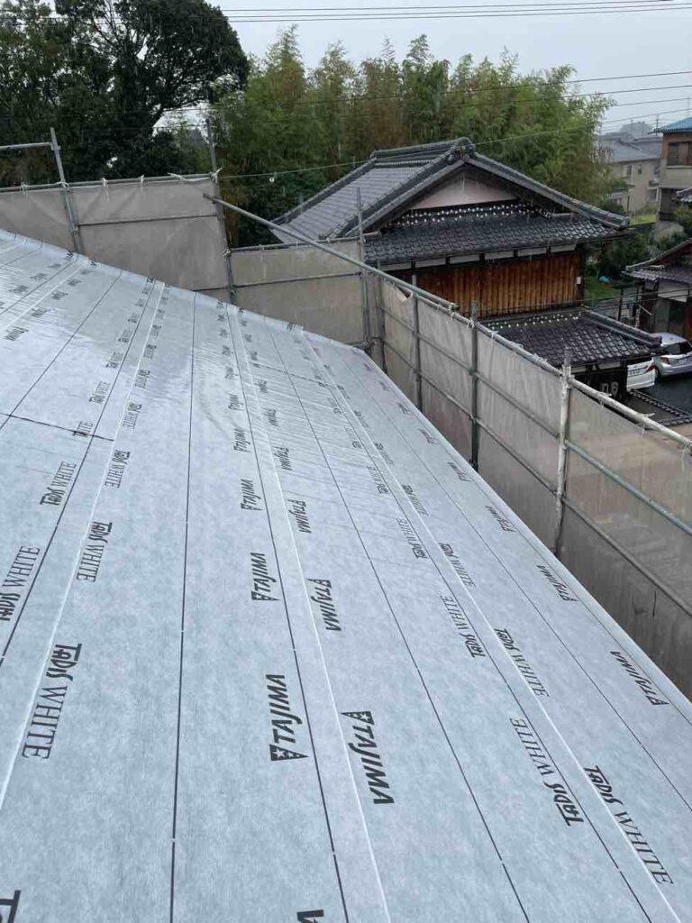 野洲の家3|屋根の断熱と気密施工