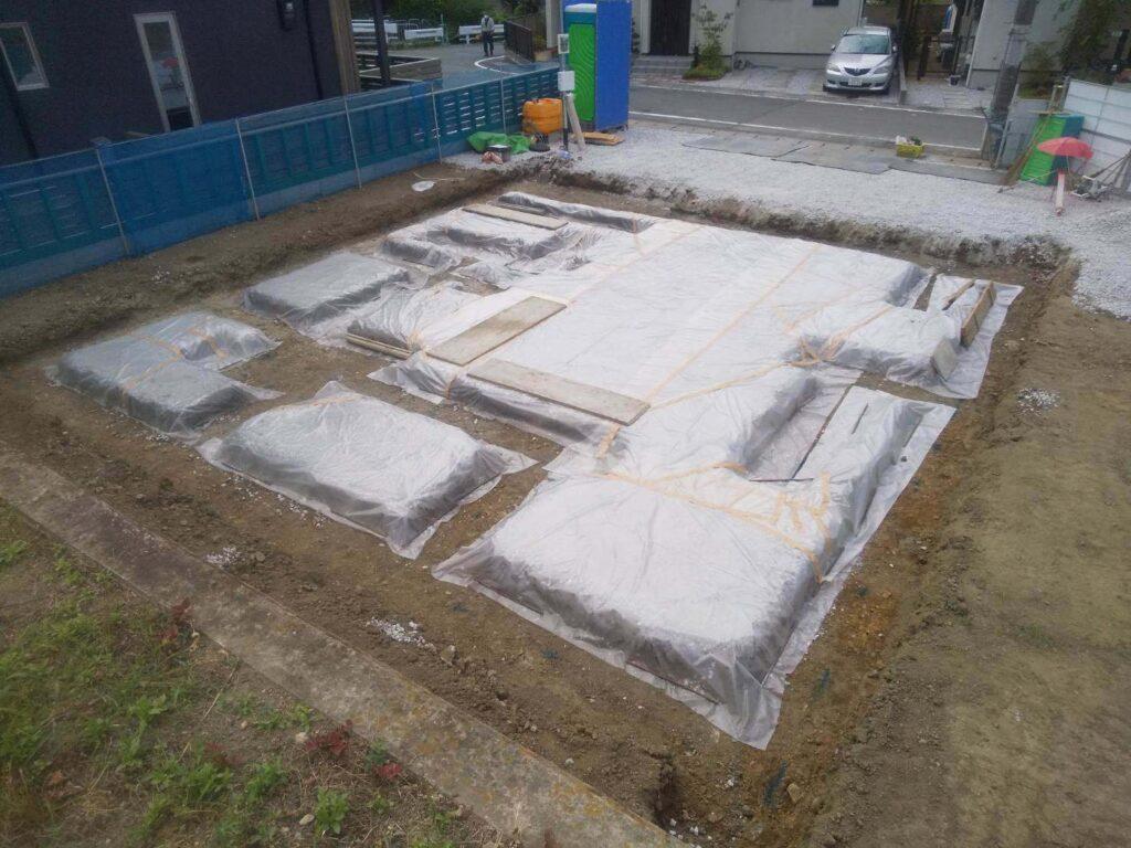 金剛寺の家|土間のコンクリート施工